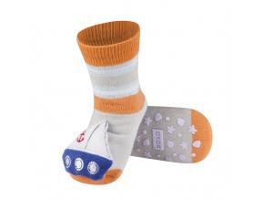 Dětské ponožky s chrastítkem SOXO LOĎKA šedé