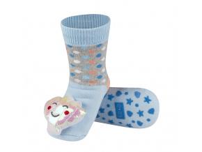 Dětské ponožky s chrastítkem SOXO LASTURA modré