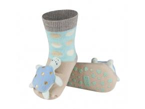 Dětské ponožky s chrastítkem SOXO ŽELVA béžové
