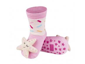 Dětské ponožky s chrastítkem SOXO HVĚZDICE růžové