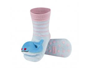 Dětské ponožky s chrastítkem SOXO VELRYBA modré