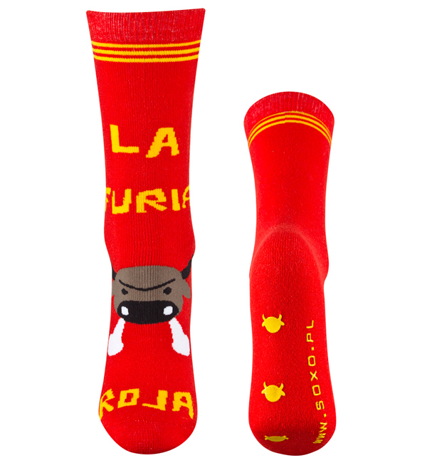 Froté ponožky SOXO BÝK červené