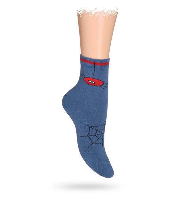 WOLA Dětské ponožky ABS vzor PAVUČINA modré Velikost: 27-29