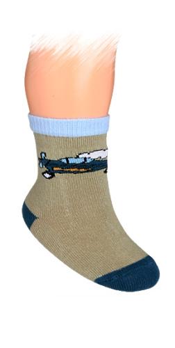 WOLA Kojenecké ponožky vzor LETADLO Velikost: 15-17