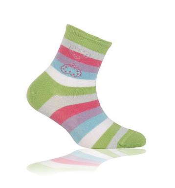 WOLA Dětské ponožky PROUŽKY Velikost: 21-23