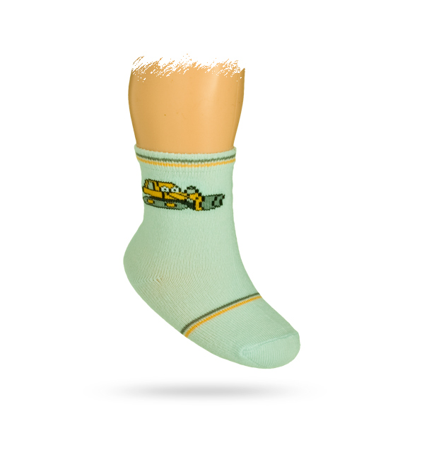 WOLA Kojenecké ponožky s obrázkem BULDOZER Velikost: 12-14