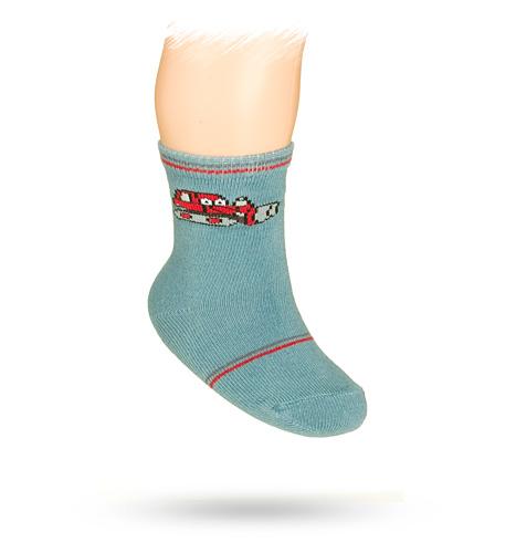 WOLA Kojenecké ponožky s obrázkem BULDOZER Velikost: 15-17
