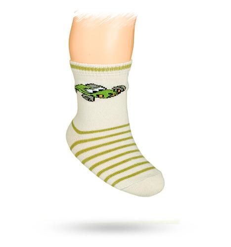 WOLA Kojenecké ponožky s obrázkem FORMULE šedé Velikost: 15-17