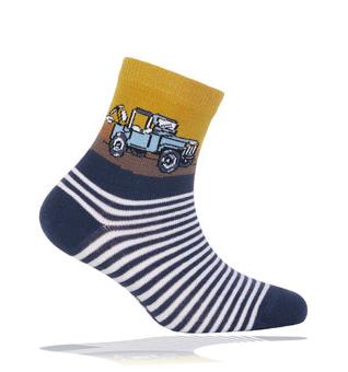 Dětské ponožky WOLA vzor AUTO Velikost: 21-23