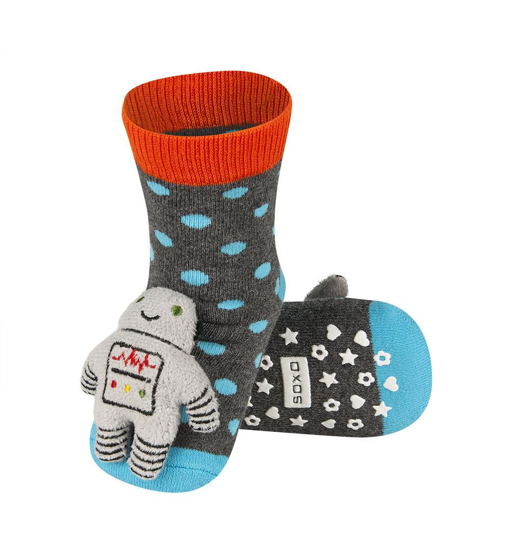 3f3256d2e32 SOXO Ponožky s chrastítkem ROBOT Velikost  19-21