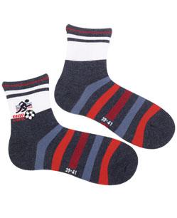 Vzorované ponožky WOLA FOTBAL Velikost: 33-35