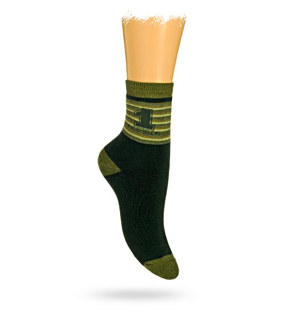 GATTA Dětské termo ponožky vzor NUMBER 1 Velikost: 27-29