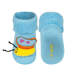 SOXO Ponožky s chrastítkem MOTÝLEK Velikost: 16-18