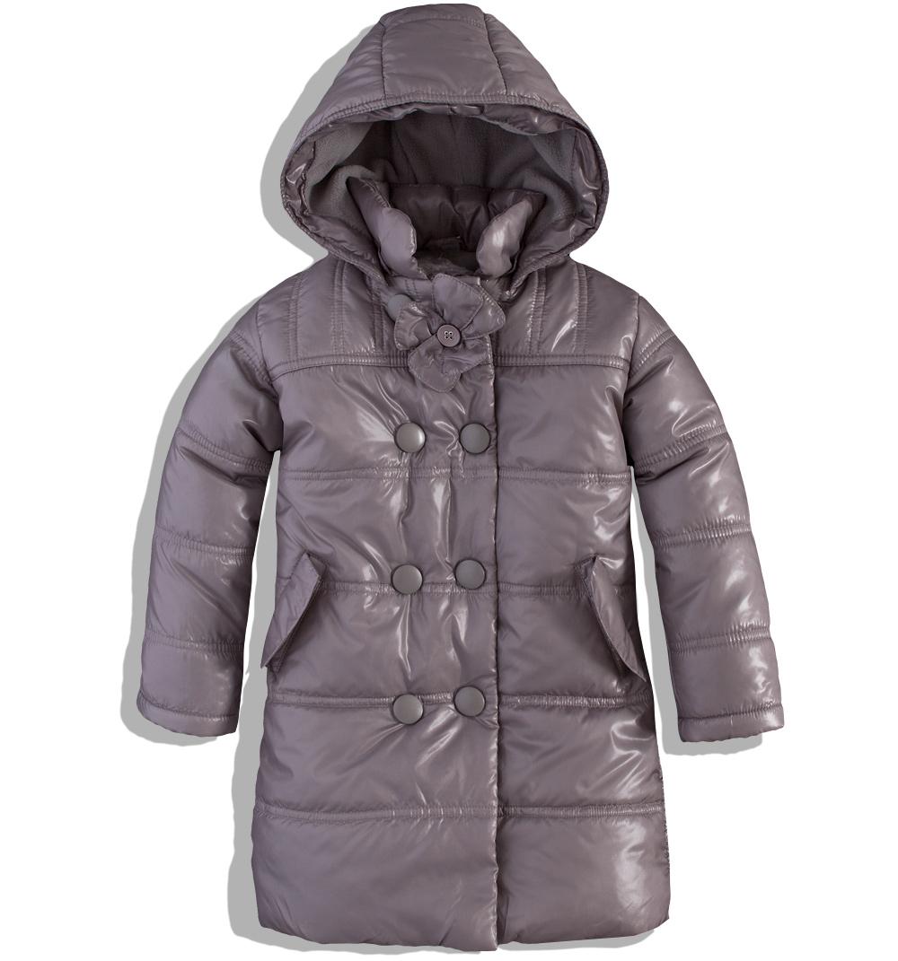 Dívčí zimní kabátek DIRKJE šedý Velikost: 62