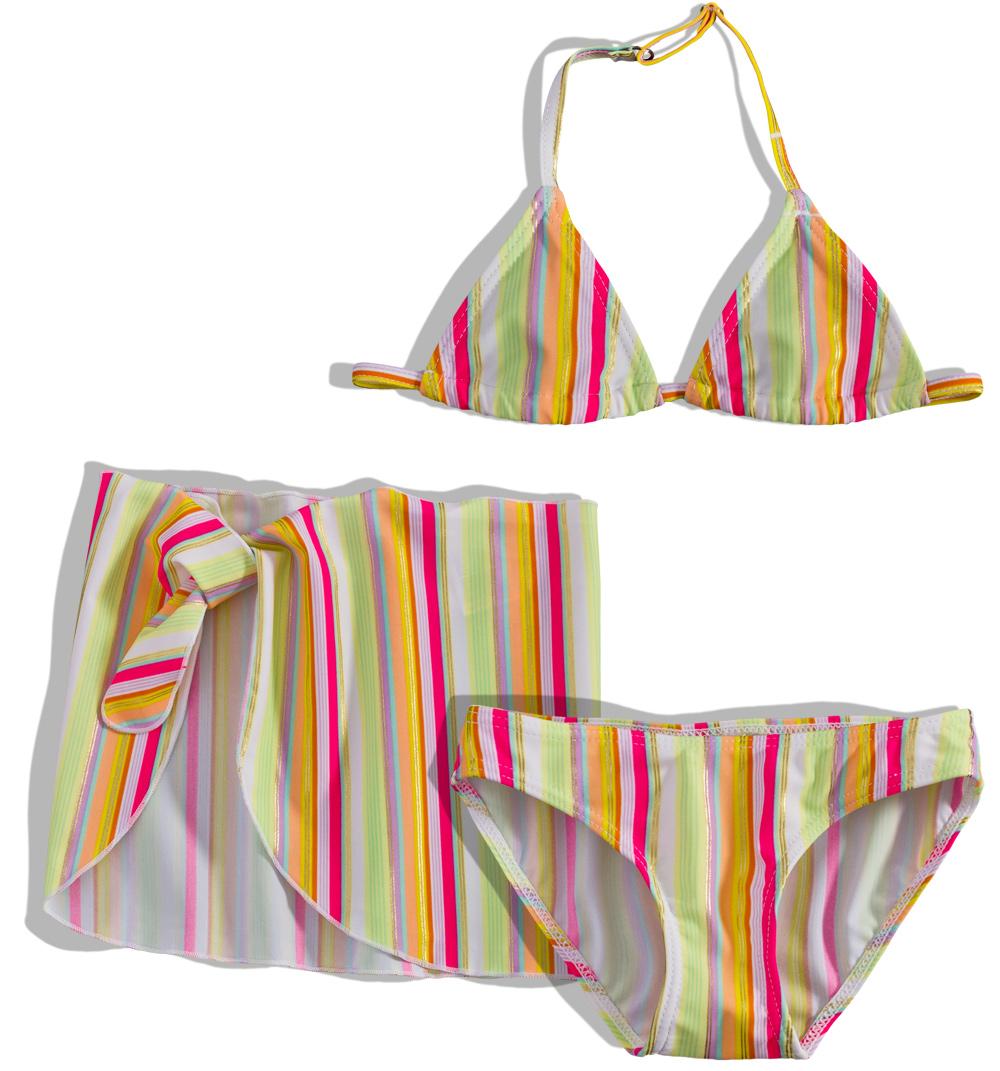 Dívčí plavky s pareem Dirkje PROUŽKY Velikost  92 5d66f2f4c7