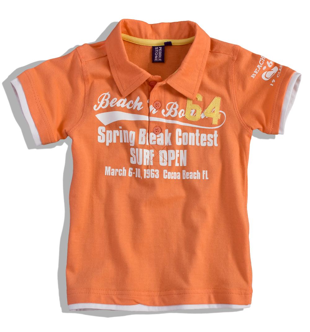 Chlapecké tričko s límečkem PEBBLESTONE Velikost: 104