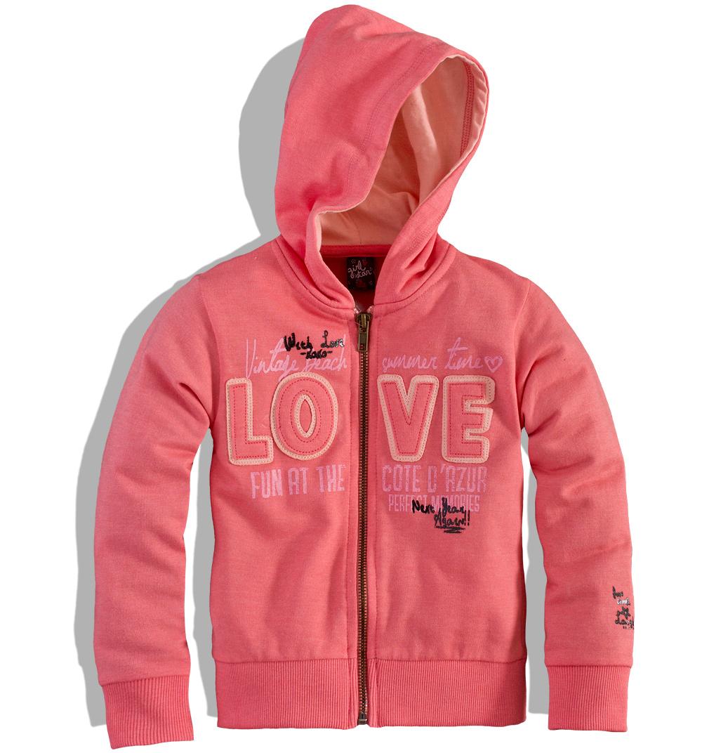 Dívčí mikina GIRLSTAR LOVE Velikost: 110