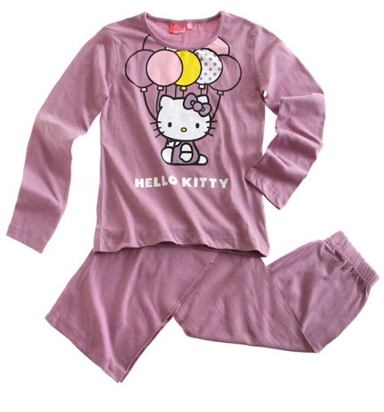 Dětské pyžamo HELLO KITTY BALONKY fialové Velikost: 164