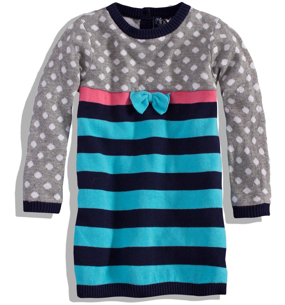 Pletené šaty MINOTI PINKY Velikost: 86-92