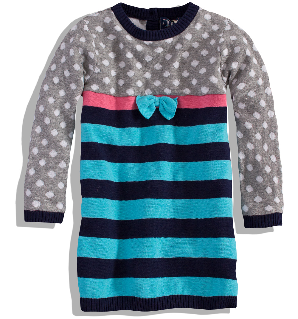 Pletené šaty MINOTI PINKY Velikost: 80-86