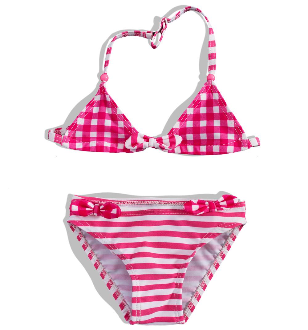 Dívčí dvoudílné plavky PEBBLESTONE růžové Velikost: 104