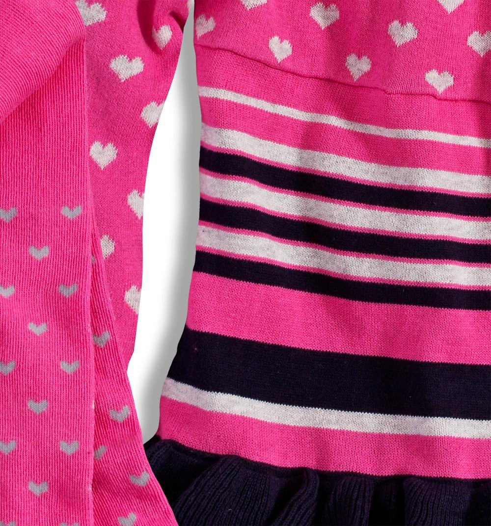 Dívčí pletené šaty MINOTI GLITTER Velikost: 74-80