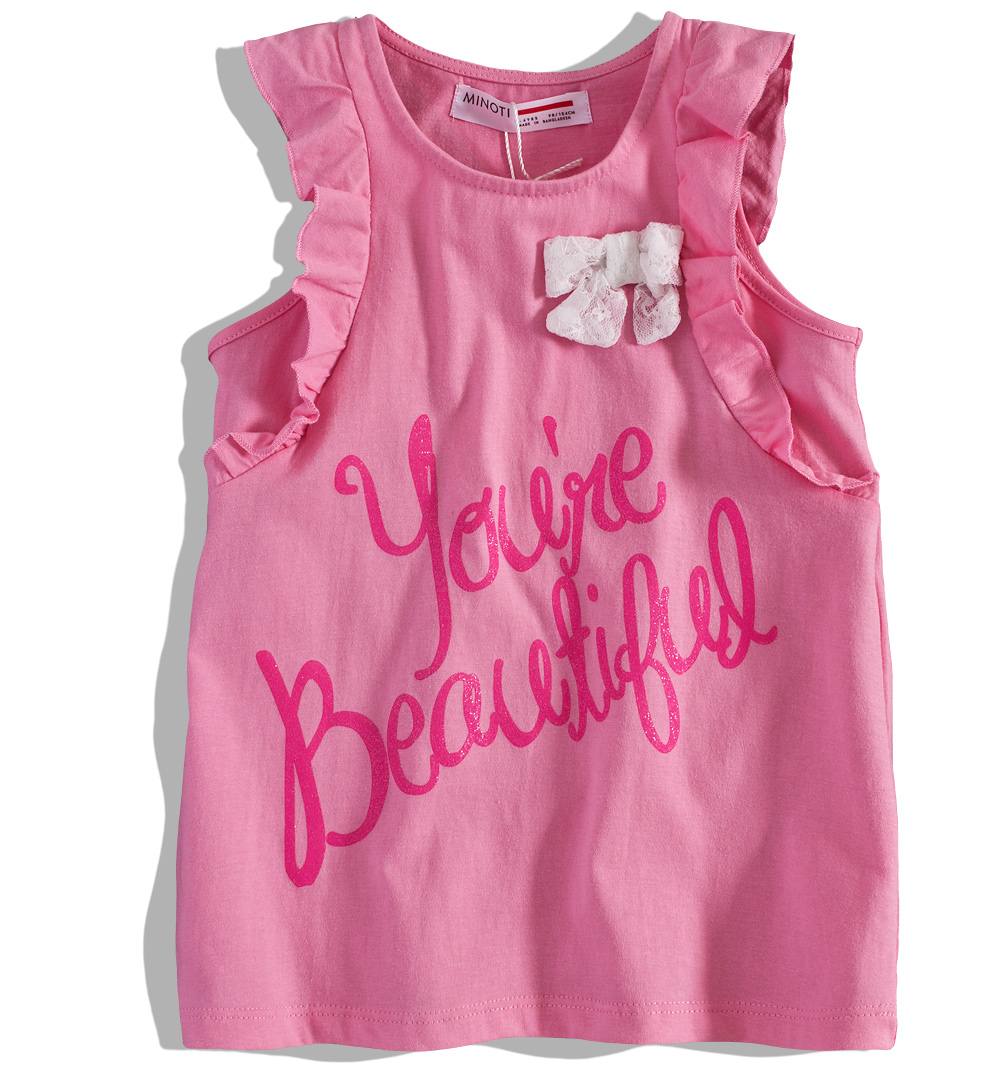 60470d669eb Dívčí tričko bez rukávů MINOTI HAZE Velikost  98-104