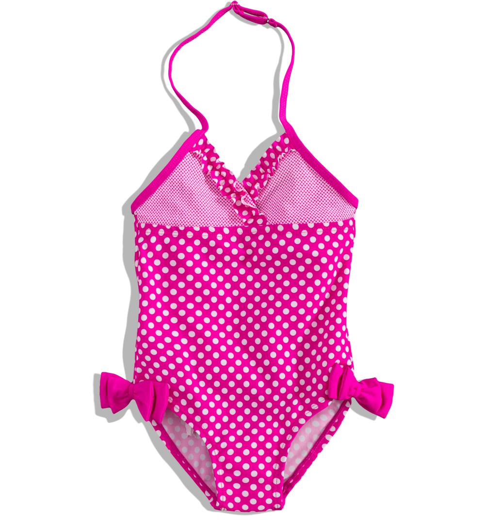 Dívčí plavky Dirkje DOTTY jednodílné růžové s puntíky Velikost  92 096764a87b