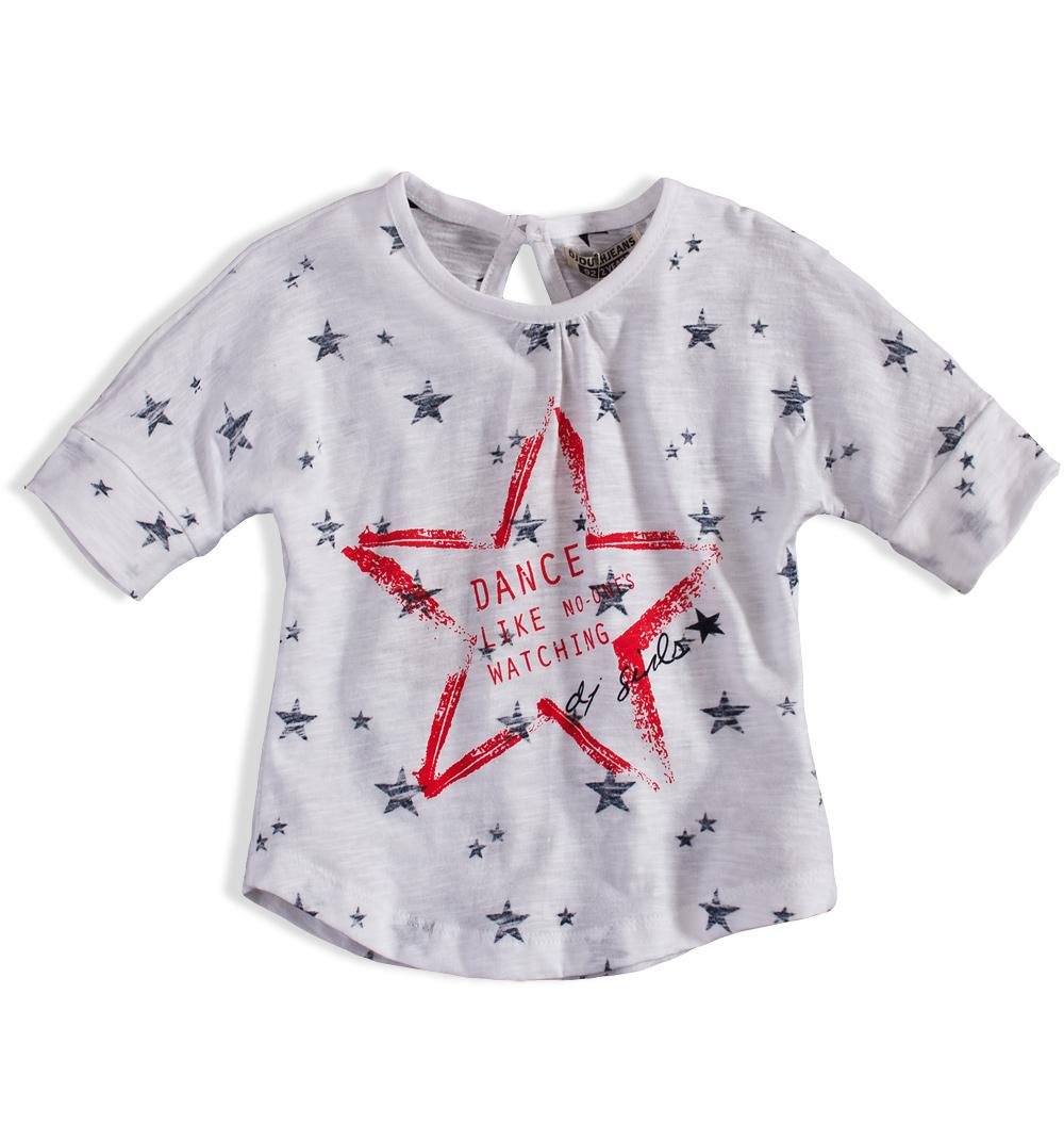 Dívčí tričko DIRKJE STAR DANCE bílé Velikost: 98