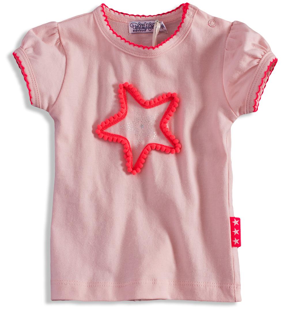 80c4557f4f3 Dívčí tričko Dirkje PINKY STAR světle růžové Velikost  92