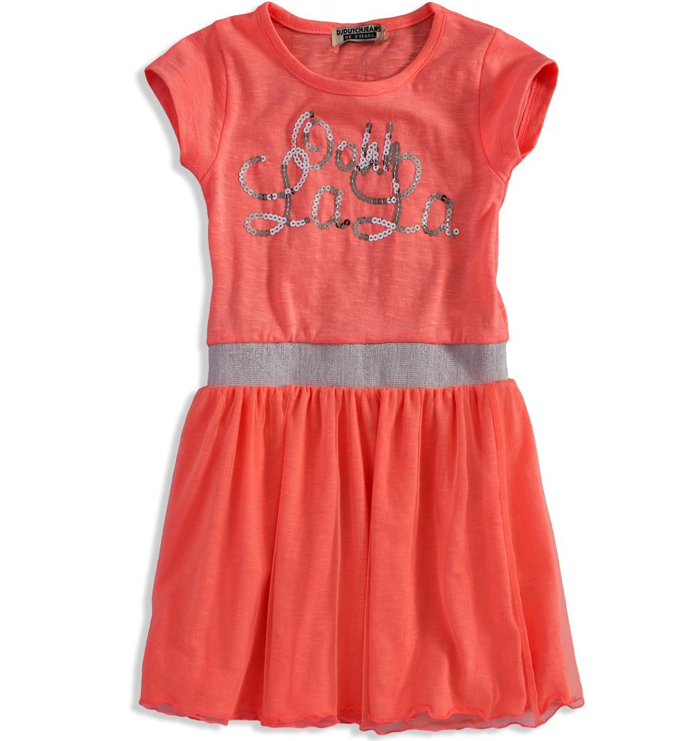 9ce1306ff9a Dívčí šaty DIRKJE LALA oranžové Velikost  98