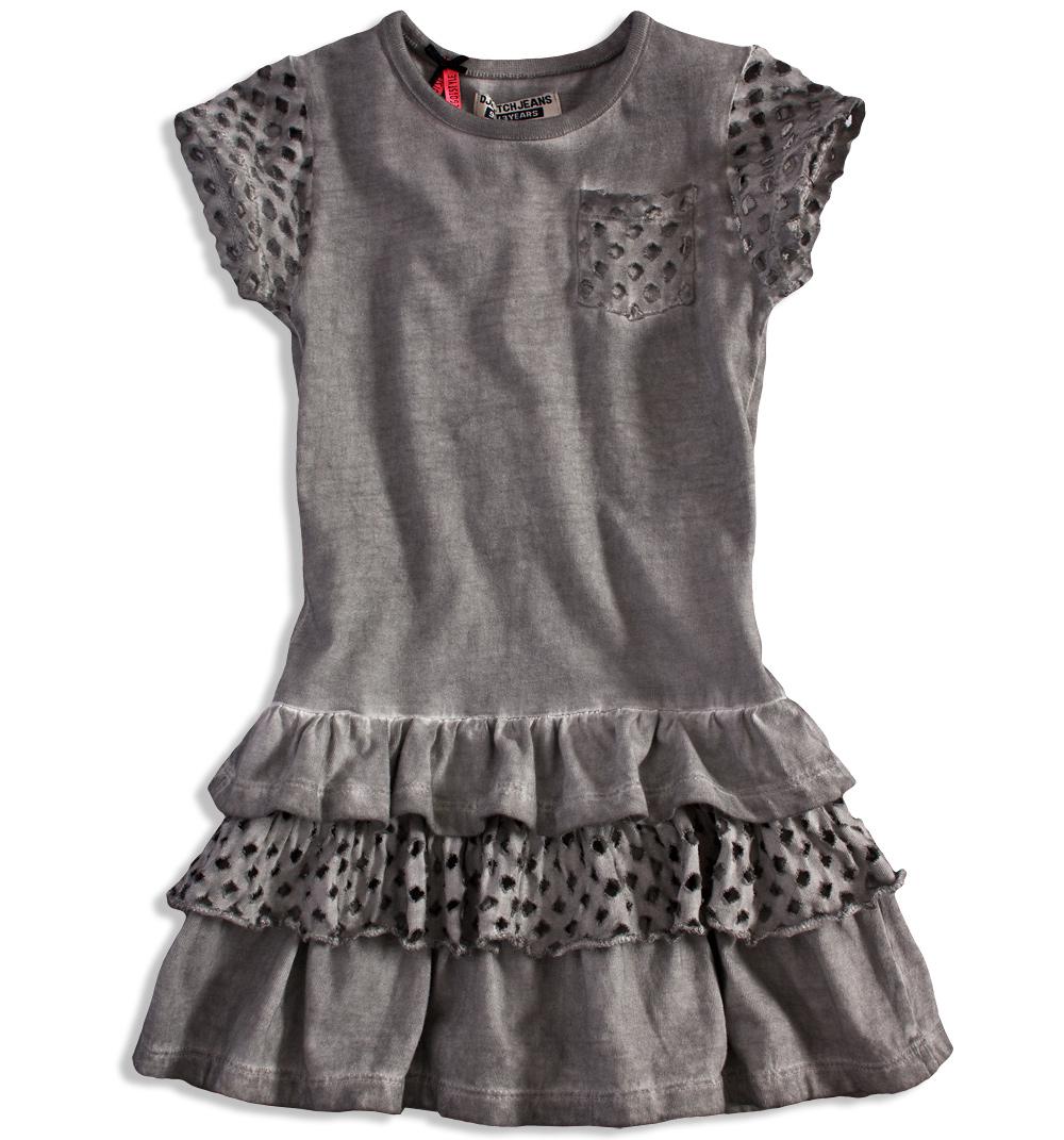 a2cd9afdedd Dívčí šaty DIRKJE STYLISH šedé Velikost  104