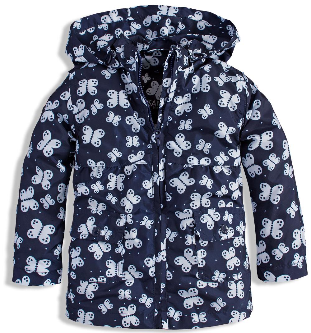 Kojenecká dívčí jarní bunda LOSAN MOTÝLCI modrá Velikost: 68