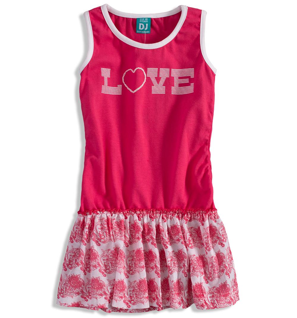 Dívčí letní šaty Dirkje LOVE růžové Velikost  110 41722a07aa