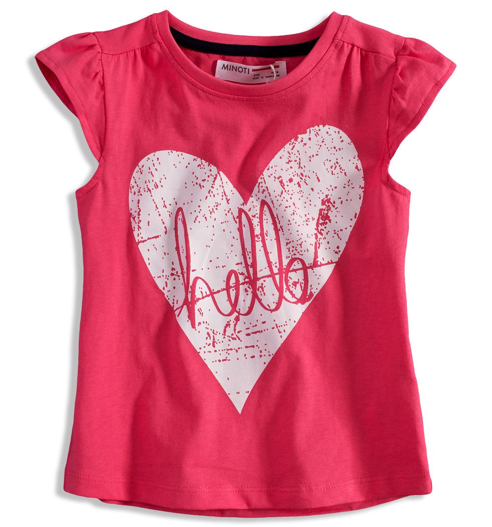 Dívčí tričko s potiskem MINOTI RIVIERA růžové Velikost  98-104 5d6184e8c3