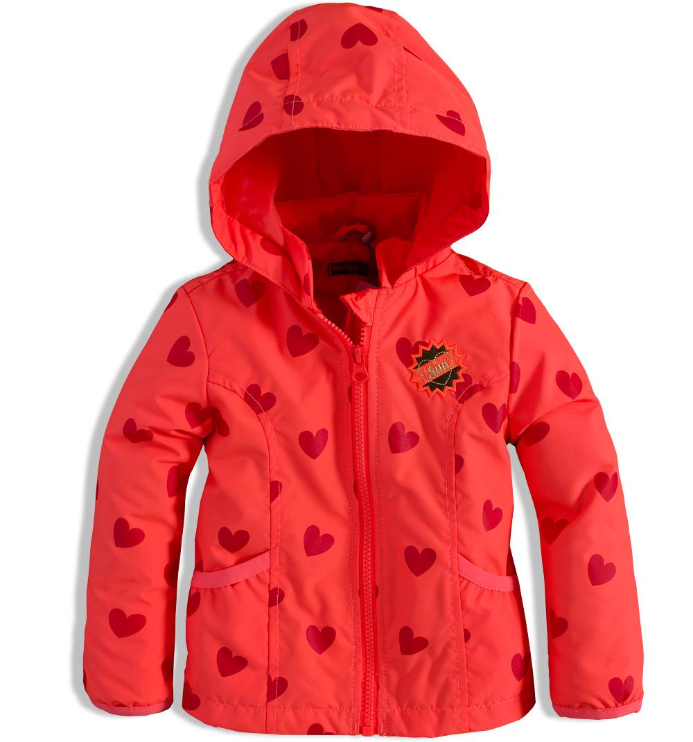 Dívčí podzimní bunda DIRKJE SRDÍČKA oranžová Velikost: 116