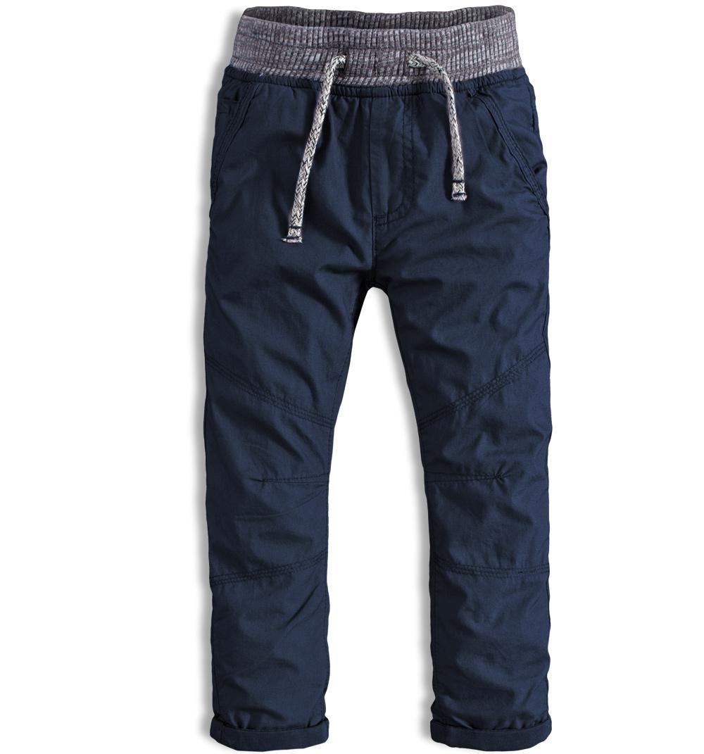 Kalhoty chlapecké podšité v pase do gumy Minoti CROSS 8 modrá Velikost: 98-104