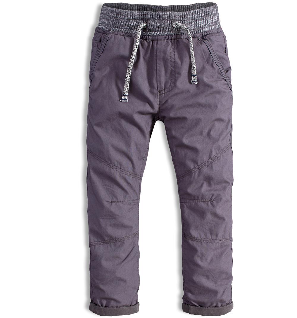 Kalhoty chlapecké podšité v pase do gumy Minoti CROSS 8 šedá Velikost: 92