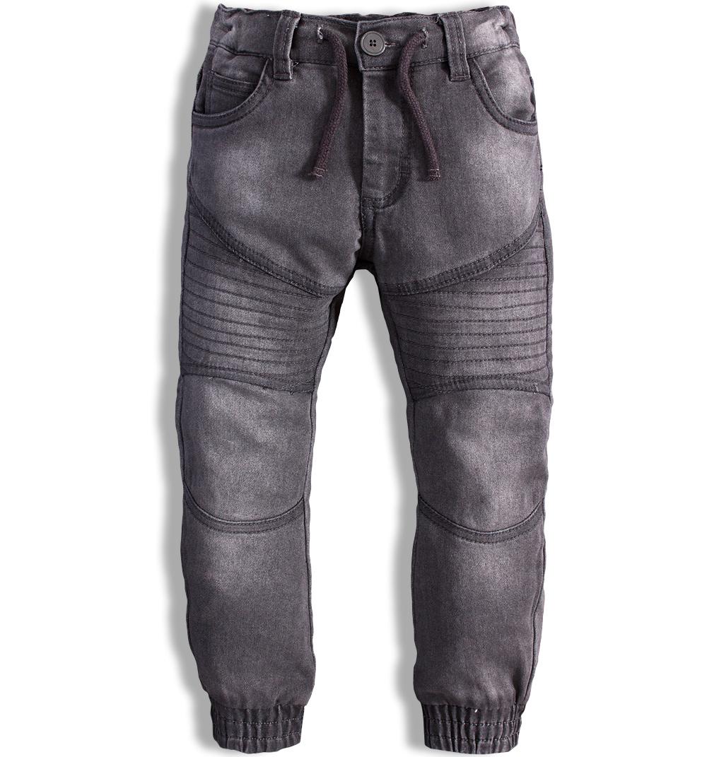 fc86b787bf0 Dětské džíny MINOTI MONO elastické šedé Velikost  110-116
