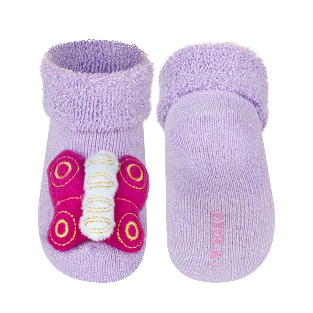 Ponožky s chrastítkem SOXO MOTÝLEK Velikost: 16-18