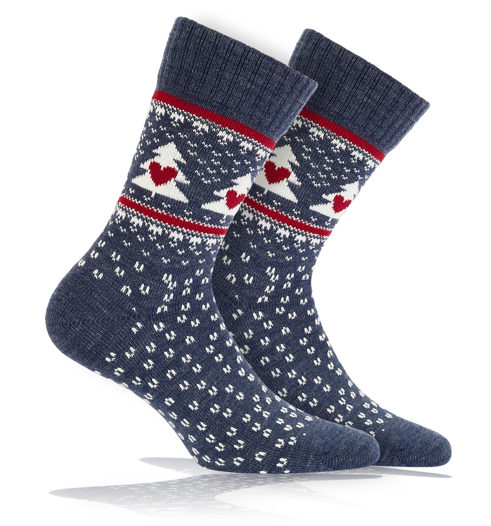 Vlněné ponožky WOLA SNĚHULÁCI