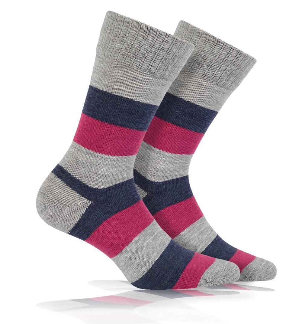 Vlněné ponožky WOLA PRUHY