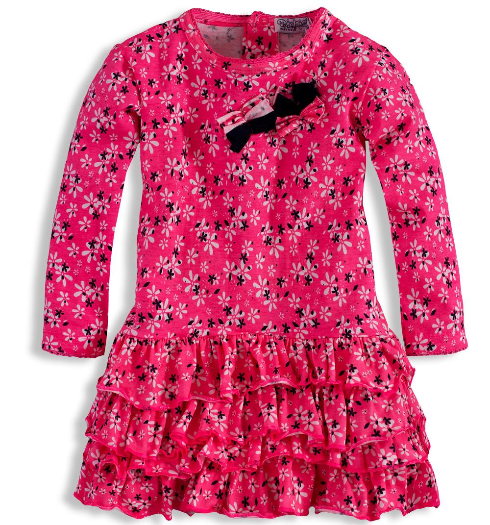 ac3e94b55c3 Dívčí šaty DIRKJE KYTIČKY růžové Velikost  92