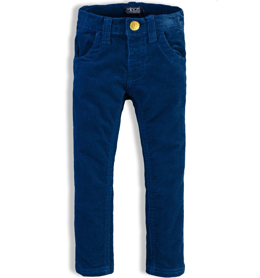 999cc007788 Dívčí manžestrové kalhoty MINOTI KITTY modré Velikost  86-92