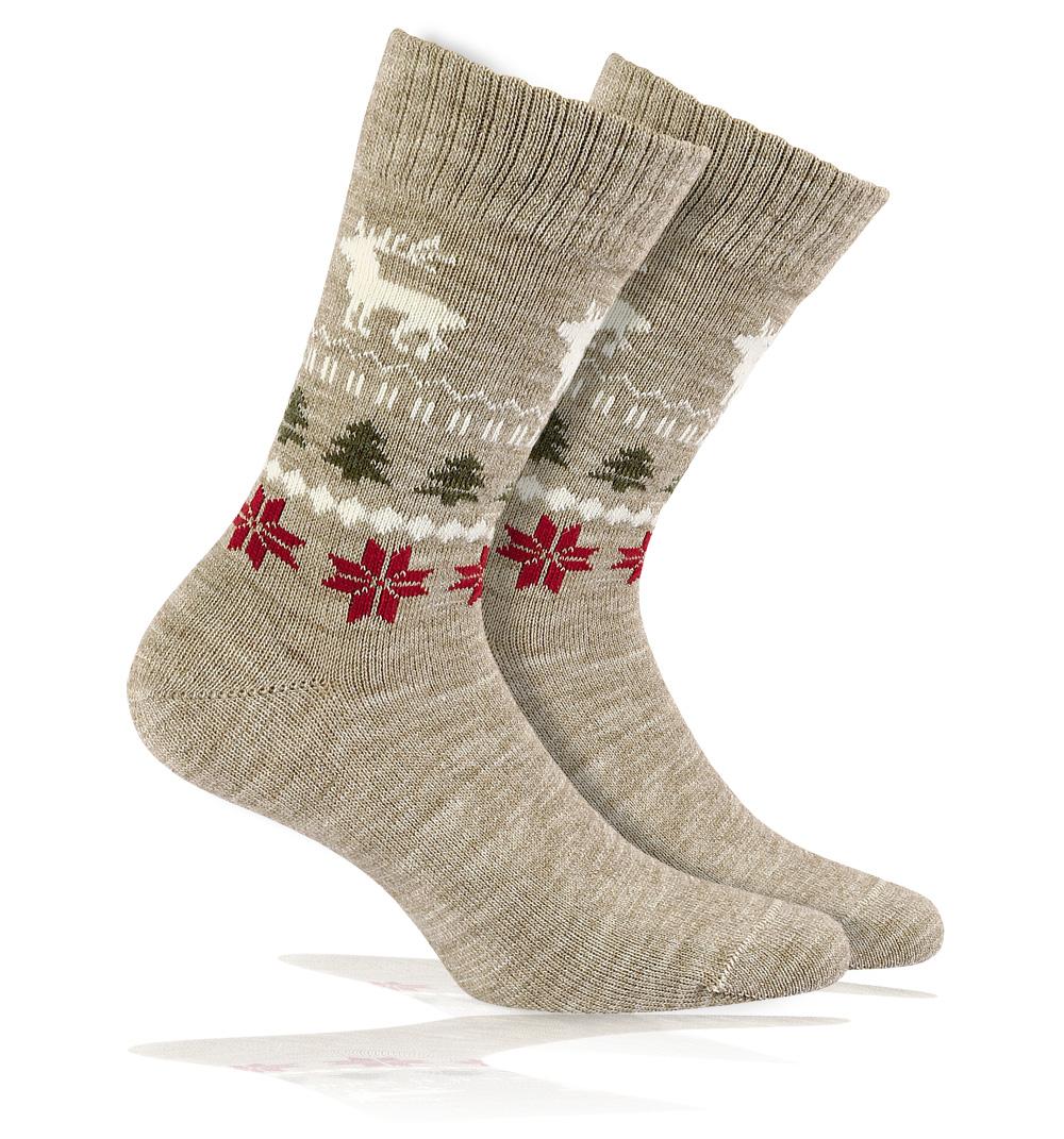 Vlněné ponožky WOLA SOB béžové