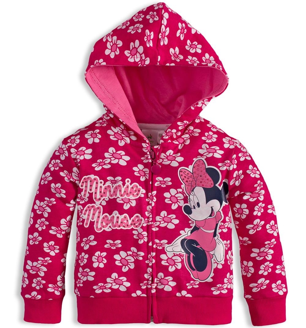 Dívčí mikina Disney MINNIE růžová Velikost: 92