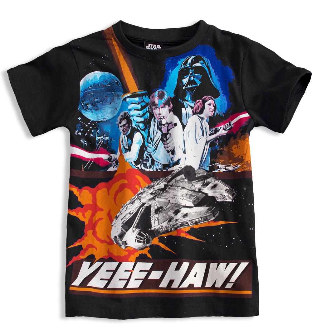 Tričko s krátkými rukávy Disney STAR WARS černé Velikost  116 01d11f1bd5