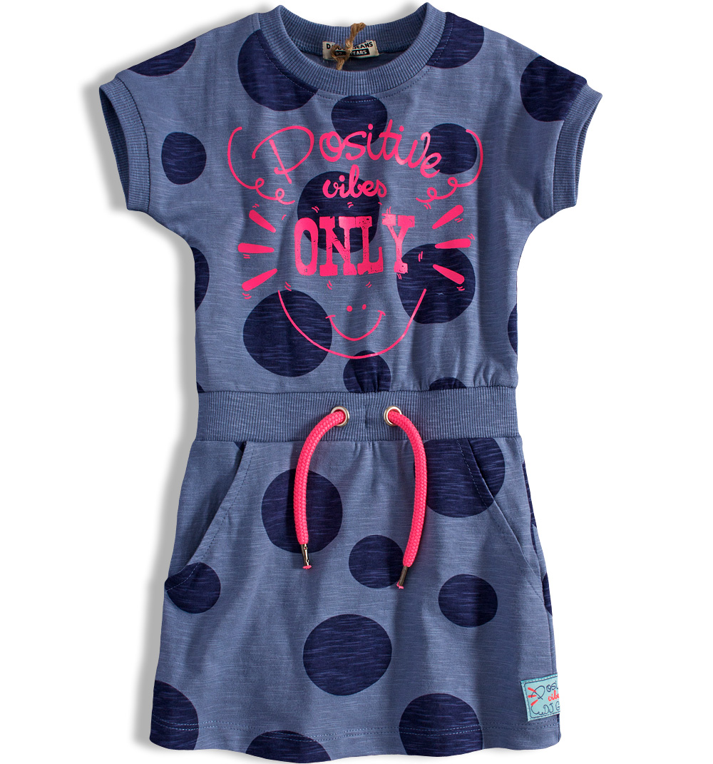 eced88a63e7 Dívčí šaty DIRKJE PUNTÍKY modré Velikost  152
