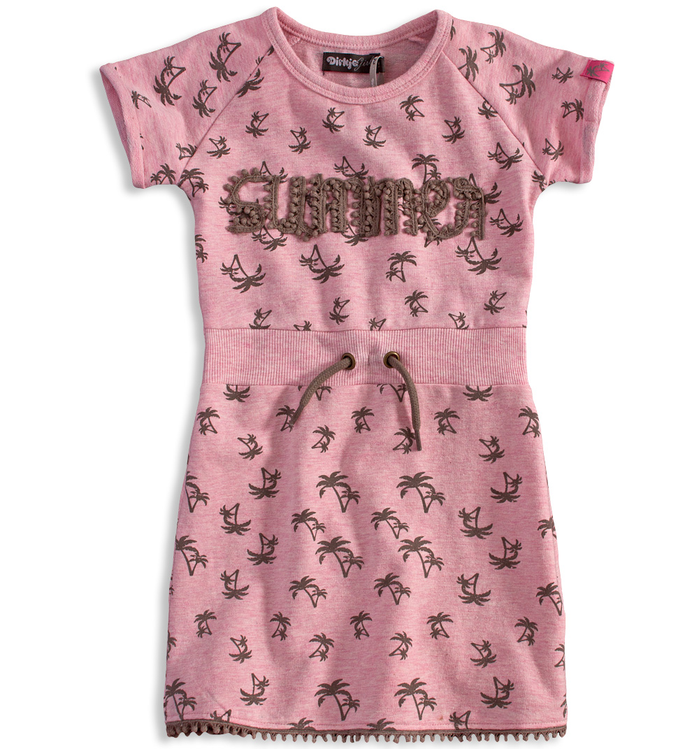 Dívčí šaty DIRKJE PALMY růžové Velikost: 98