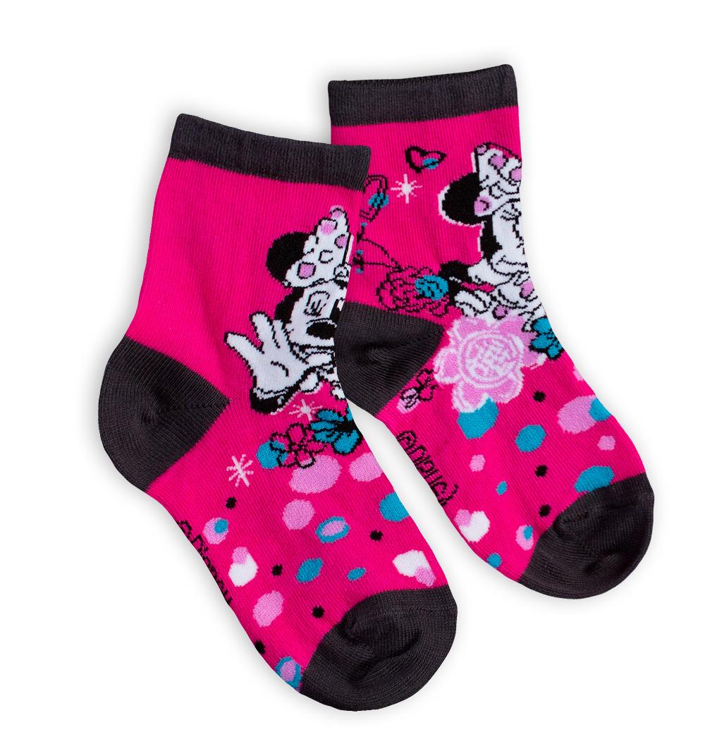 Dětské ponožky DISNEY MINNIE tmavě růžové Velikost  27-29 af1e71d0f2